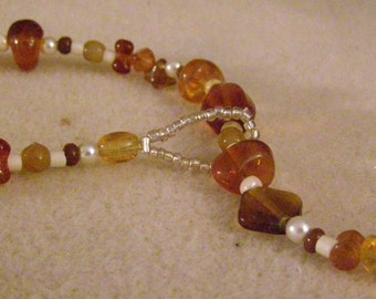Amber Lariat Necklace