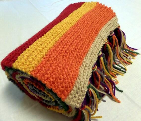 Knitting A Scarf Garter Stitch : Doctor Who Scarf Knitted Garter Stitch