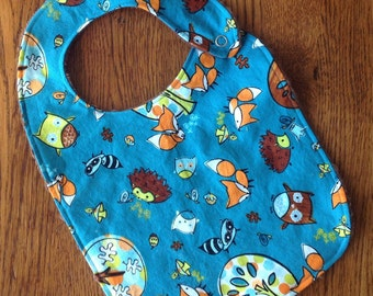 Forest Fox Minky Baby/Toddler Bib - Last One