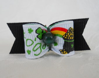DOG BOW- 5/8  Pot O' Gold Dog Bow
