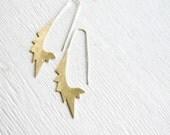 Big Star  - brass earrings , sterling silver earrings, statement earrings, geometric earrings, bohemian earrigs, made in Italy