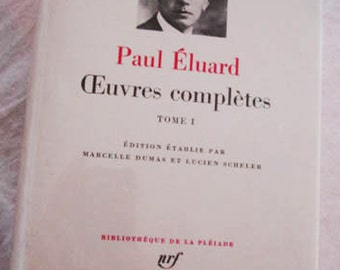Paul Eluard Oeuvres Complete-Volume 1- French Literature, Vintage book, Paul Eluard- First Edition