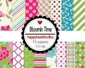 Digital Scrapbook BloominTime-INSTANT DOWNLOAD