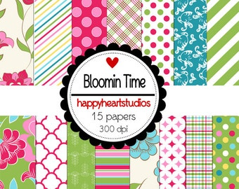 Digital Scrapbook BloominTime-INSTANT DOWNLOAD