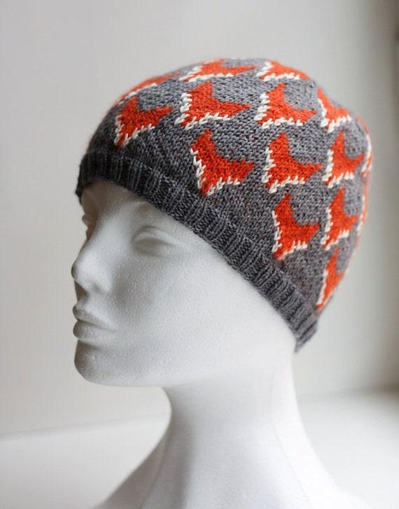 Knitting Pattern Fox Hat : Fox Hat PDF knitting pattern
