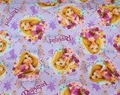 Disney  Fabric Princess Rapunzel  50 cm by 53   cm or 19.6 by 21  inches Fat Quarter