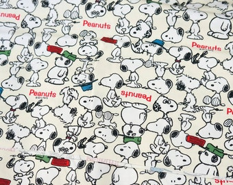 Snoopy Print Japanese Fabric 50 cm by 106  cm or 19.6 inch by 42 inches