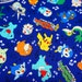 pokemon fabric pikachu 50 cm by 106 cm or 19,6  by 42 inches