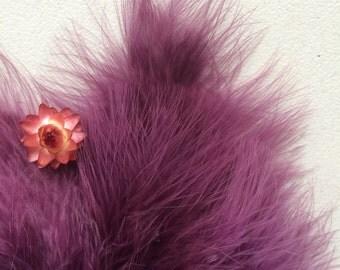 MARABOU FEATHER  Fringe,  Grape Purple     /  M - 08