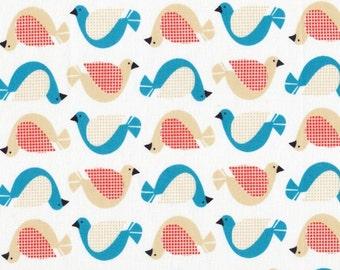 Cloud 9 Organic Fabric - Birdsong White 1 yard