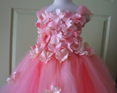 Flower Girl Dress, Tutu Dress, Photo Prop, Pink Dress, Flower Top, Tutu Dress