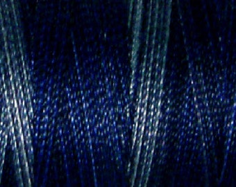 Valdani VTV50-P7 Variegated Cotton Thread 50wt 547yd Withered Blue