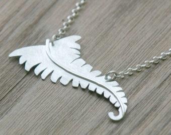 Fern Necklace in Sterling Silver