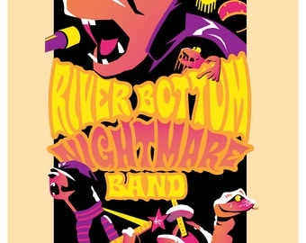 River Bottom Nightmare Band Limited Edition Signed Print
