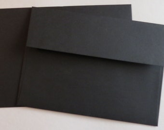 PPE49  Qty. of 50 A7 70 lb. Black Paper Envelopes 5 1/4 x 7 1/4 (13.34cm x 18.42cm)