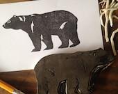 Bear Hand Carved Stamp