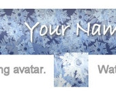 Etsy Shop Banner, with Avatar - OOAK - Winter: Big Snowflakes