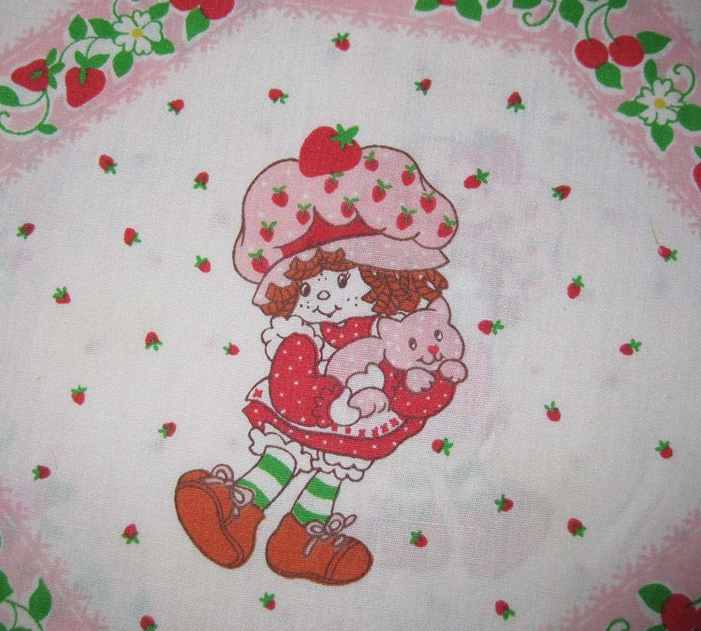Vintage Strawberry Shortcake Fabric 73