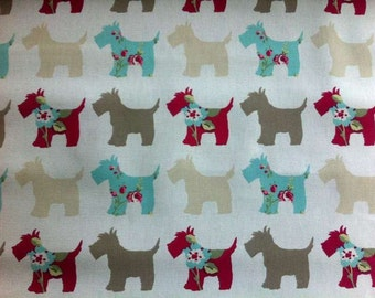 Clarke & Clarke • scotties • Canvas Cotton Fabric 0.54yd (0,5m) 001711