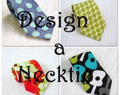 Boys Teenage Adult Necktie - your CHOICE of Designer fabrics - sizes from 6 months to Adult