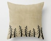 Pine Trees Throw Pillow Cover - Belles & Ghosts Home Decor Collection