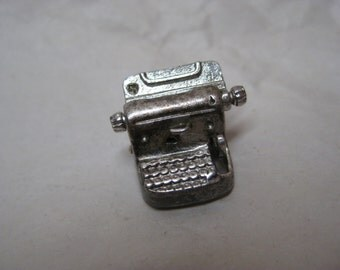 Typewriter Silver Movable Charm Vintage