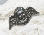 Angel Brooch Cupid Vintage Jewelry P5927