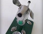 Dog sculpture art assemblage ooak art