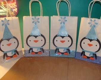 Made To Order Penguin Party Favor Bags