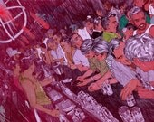 "Gay Bar - 19"" x 13"" Fine Art Illustration Print by Jonny Ruzzo"