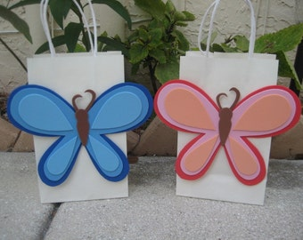 Mod Butterfly Birthday Party Favor Bag