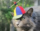 Propeller Hat - Propeller Beanie - SF Fandom - Comics Beany Boy - Propellerhead - Cat Halloween Costume - Cat Photo Prop