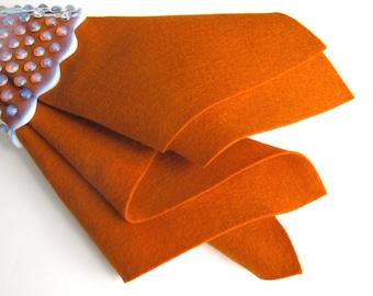 Wool Felt, Pure Merino Wool, Sweet Potato, 1mm Thick, Choose Size, Large Square, Felt Fabric, Penny Rug Wool, Primitive, Autumn, Doll Making