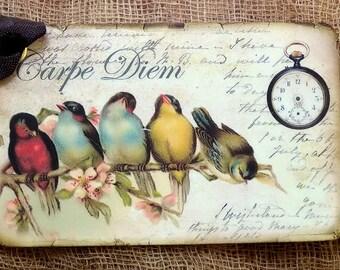Carpe Diem Bird Tags #107