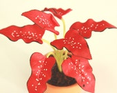 Miniature Polymer Clay Flowers Supplies for Dollhouse and Handmade Gifts, Mini Plant