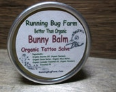 Bunny Balm Organic Tattoo Salve Natural Skin Protection Non GMO 100% Organic Hard Salve Essential Oils Gluten Free Eco Friendly No Chemicals