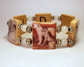 SCOTTISH DEERHOUND Bracelet / SCRABBLE Upcycled Jewelry / Dog Gift