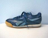 Vintage 80s REEBOK Sneakers Shoes Navy Tennis Shoes Blue Sz 8