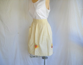 Vintage Apron Fruit Apron Country Kitchen Half Apron