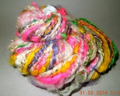Bulky Multicolorl & Natural 2-Ply Textured Yarn for Knitting, Crochet, Weaving or Felting