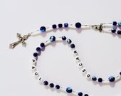 Personalized Rosary, Handcrafted, Color Choice, Custom, First Communion, Baptism