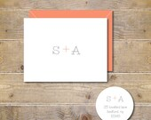 Wedding Thank You Cards . Bridal Shower Thank You Cards . Personalized . Thank You Notes  - Initials