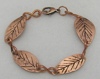 Copper Leaf Bracelet. Copper Wire Bracelets. Pure Copper Bracelets. Custom Copper Bracelets.