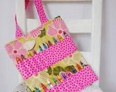 Reduced Pink Floral Crayon Bag Girls Birthday Gift Toddler Girl Activity Bag Coloring Book Travel Toy Art Bag