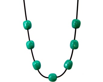 dark teal  necklace  by frank ideas
