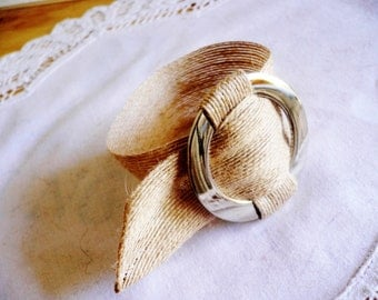 "Cuff Style Bracelet...""Natural"" ...Hand made..."