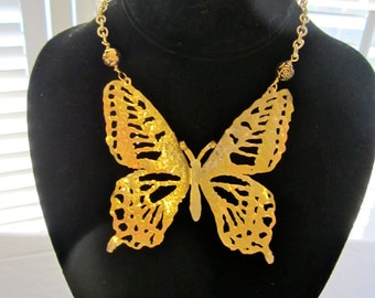 SOLDDDDDD!!!!!!Handcut Fretwork Butterfly in brass.  OOAK.