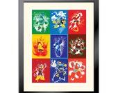 Splattery Robot Masters of Mega Man 2 Poster