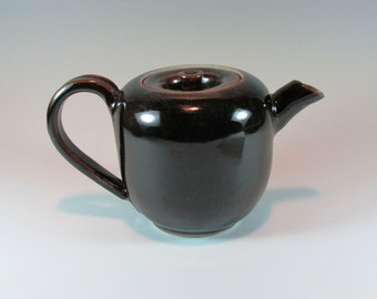 Brown Ceramic Teapot - Tea Pot -  Handmade Teapot - Wheel Thrown - Stoneware Teapot - Pottery Teapot