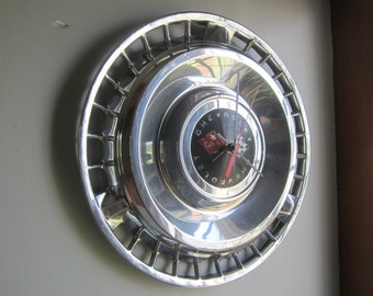 1961 Chevy Impala  Hubcap Clock no.2518